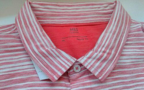 NWTG M/&S Men Size M XL XXL Polo T-shirt Short sleeve Pure cotton Regular fit