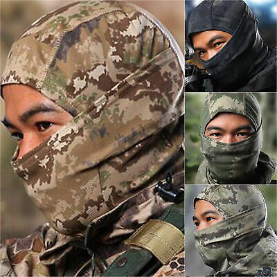 Tactical Balaclava Cap Camo Full Face Cover Hunting Army Military Helmet Liner