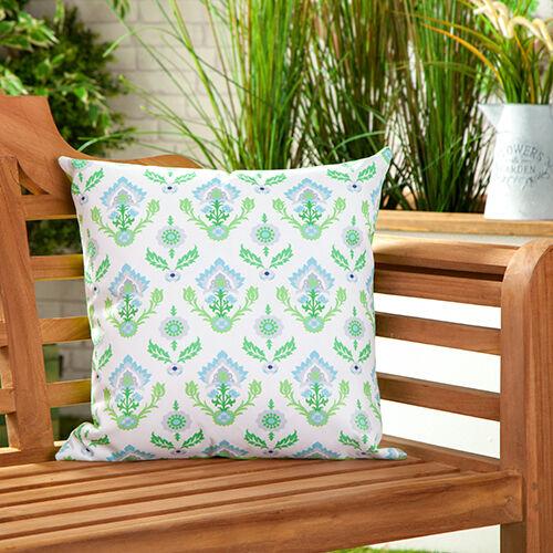 Chaux floral toile imperméable jardin extérieur scatter coussin remplis imprimé
