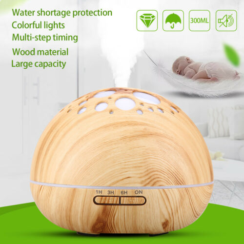 LED Ultraschall Luftbefeuchter Aroma Diffuser Aromatherapie 5 Farben Duftlampe A