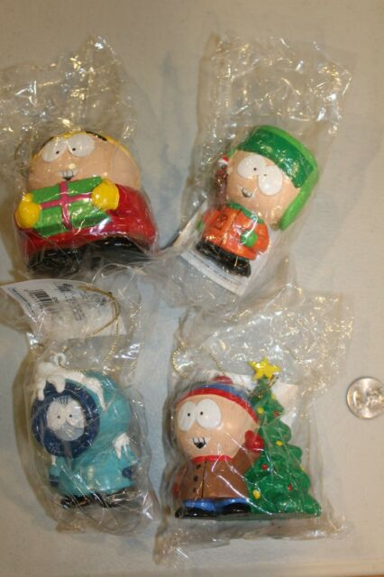 4 South Park Christmas Ornaments Stan Kyle Kenny Cartman ...