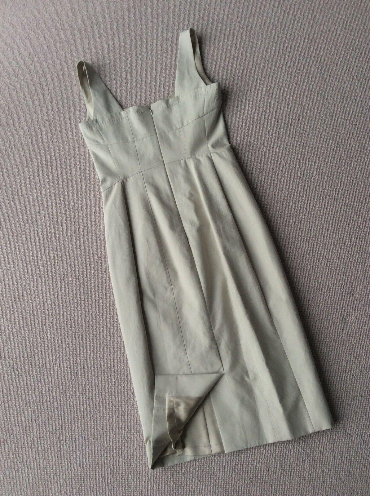 Designer Designer Designer AMANDA WAKELEY Elegant Stone Shift Dress, Silk Lined UK10 RRP 999eec