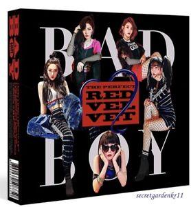 red velvet perfect red velvet repackage album bad boy cd photocard