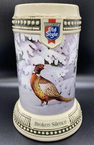Old-Style-Broken-Silence-Winter-Wildlife-Pheasant-Beer-Stein-14726-With-COA