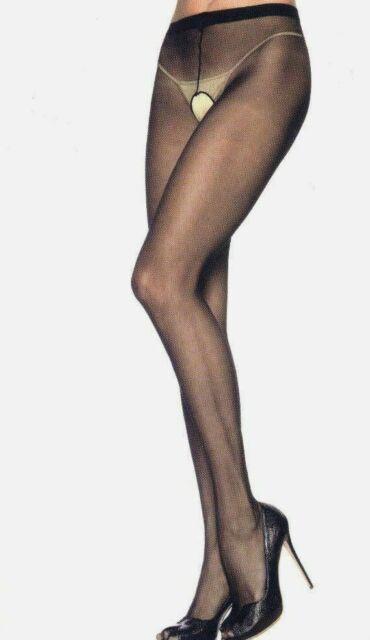 Sheer crotchless pantyhose Legavenue 1905 one sz and plus sz