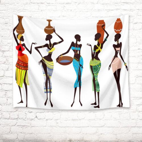 African National Dress Girl Tapestry Wall Hanging Living Room Bedroom Dorm Decor
