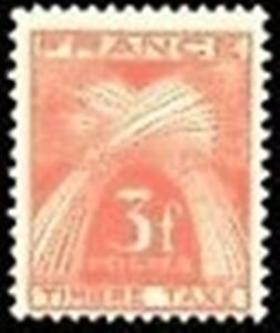 FRANCE-STAMP-TIMBRE-TAXE-N-83-034-TYPE-GERBES-3F-ROUGE-BRUN-034-NEUF-xx-TTB