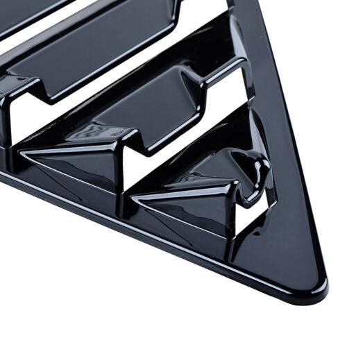 Apto para FORD FOCUS MK3 2012-2018 HATCHBACK VENTANA Lumbreras de ventilación lateral negro brillante