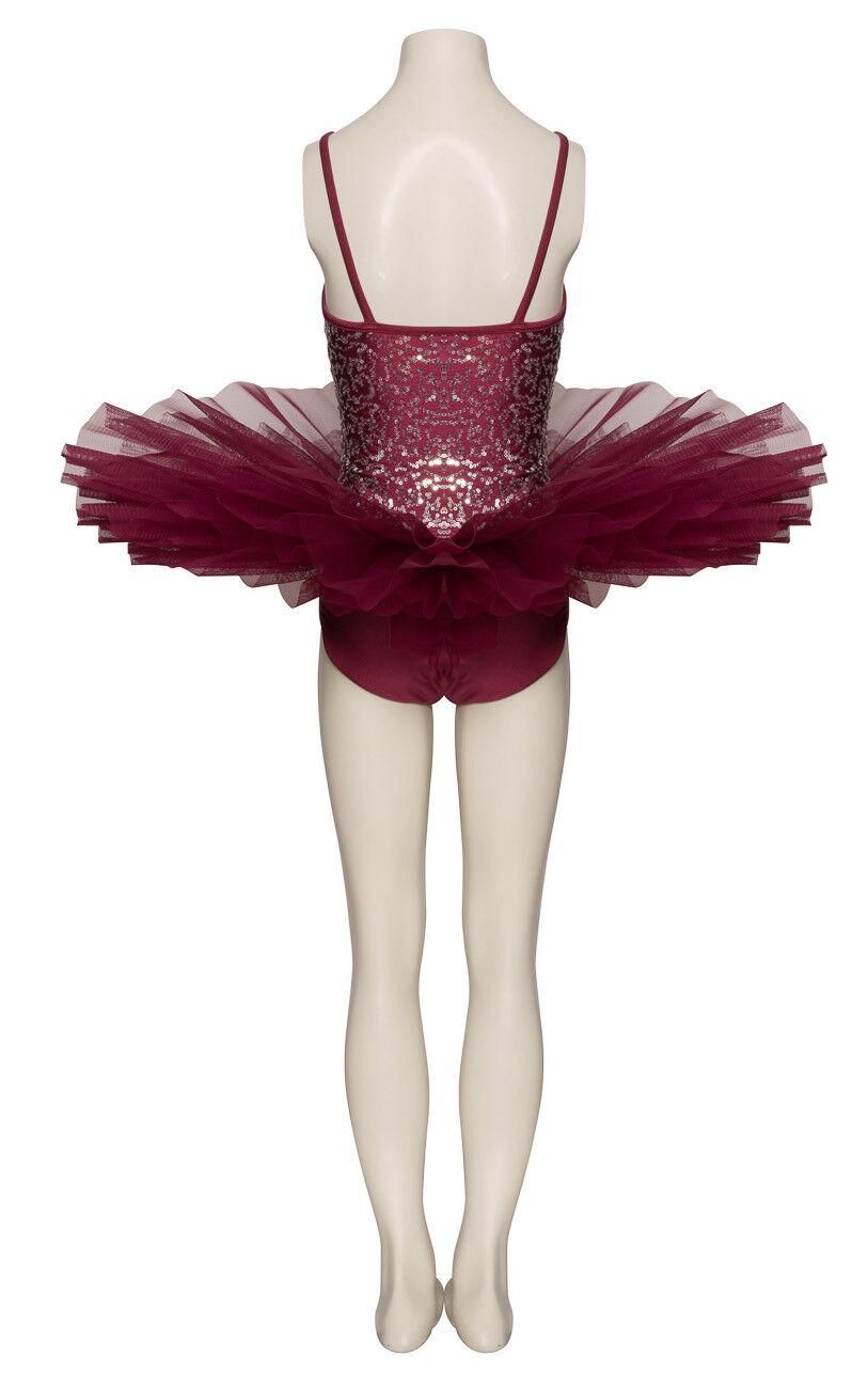 Burgund Funkelnd Tutu Tutu Tutu mit Silber Pailletten Tanz Ballett Kostüm Tutu von Katz 2b916c