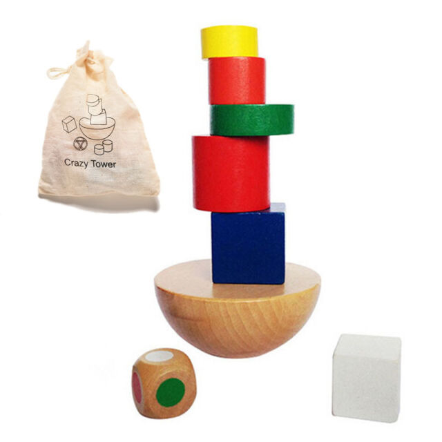 Colorful Wooden Balancing Game Children Educational Building Blocks Kid Toy NT