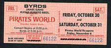 Original 1970 Byrds James Gang unused full concert ticket Dania Eight Miles High