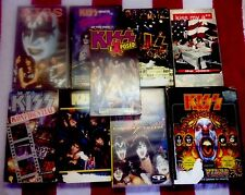 Vintage KISS - Lot of 9 VHS Exposed, Kiss My A** , Unplugged