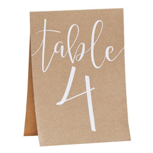 """Tischnummern Karten /""""Rustic Country/"""" Nr 1-12  Vintage Hochzeit Tischdeko"""