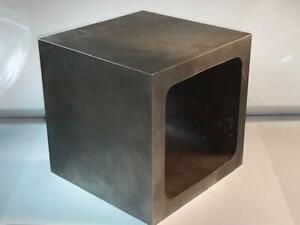 "Rough Machined Busch USA #5140  6"" x 6"" x 6""  BOX PARALLEL CUBE Scraping Project"