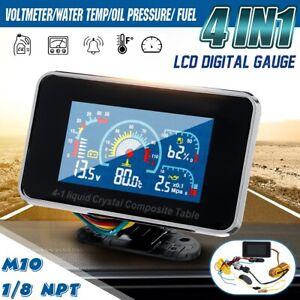 4-in-1-LCD-Car-Digital-ALARM-Gauge-Voltmeter-Oil-Pressure-Fuel-Water-Temp-12-24v
