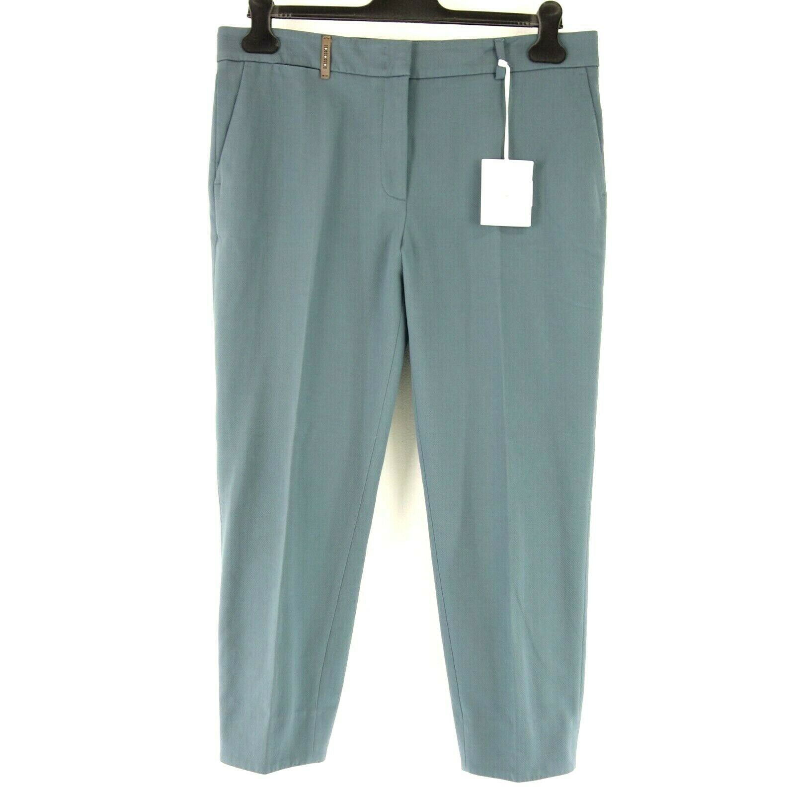 Peserico Women Pants P04969 It 48 de 42 Straight Cotton Spandex Np 279 New