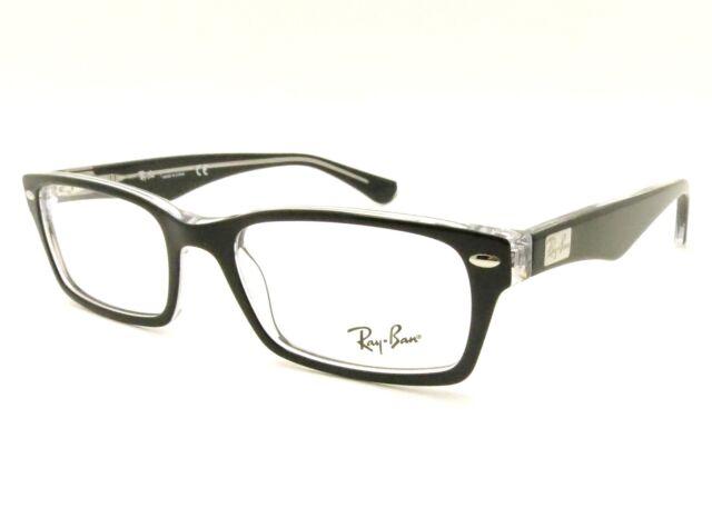 7fb223013870b Ray Ban RX 5206 Eyeglasses 2034 Black Size 54mm for sale online