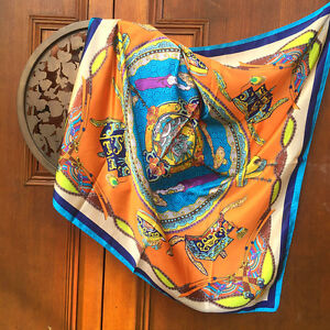35-034-35-034-Women-039-s-Shawl-Silk-Satin-Square-Scarves-Ladies-Head-Shawl-12-Colors