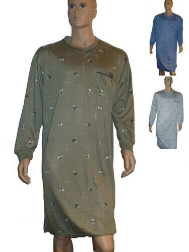 Herren Nachthemd langer Arm Bündchen an den Armen Schlafshirt