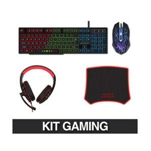 Tastiera + mouse da gioco + cuffie + tappetino,led retroilluminata LED.Gaming PC