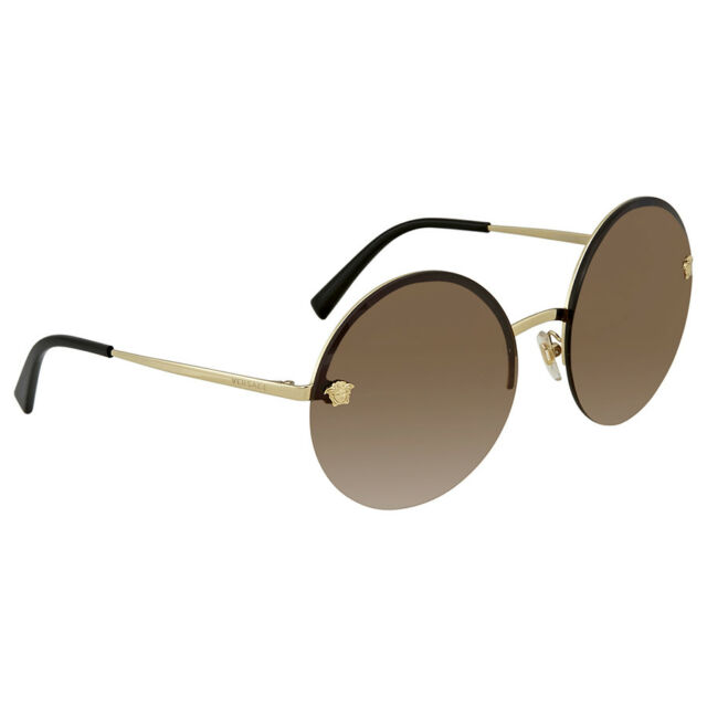 latest discount quality get cheap Authentic Versace VE2176 1252/13 Round Sunglasses Pale Gold, Brown Gradient  Lens