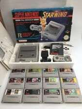 Super Nintendo Starwing Console Bundle - GOOD CONDITION - SNES PAL Plus Games
