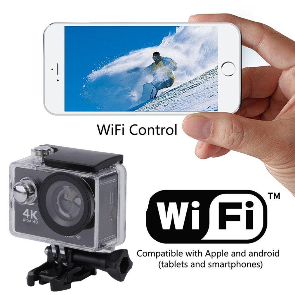 1080P H9 4K HD Helmet Camcorder Sport Action Waterproof Camera DV Wifi Black BE