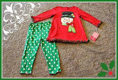 Snowman Set Outfit Size 24 Months 24M Baby Girls NWT Christmas Good Lad Winter