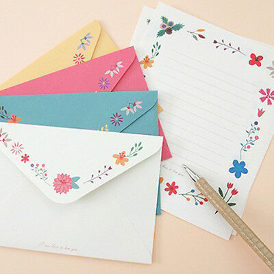 Beautiful Flower&Butterfly Letter set -8sh writing stationery paper 4sh envelope