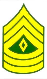 Sergeant Rank Decal
