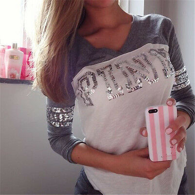 Women's Lady Loose Long Sleeve Casual Blouse Shirt Tops New Fashion Blouse