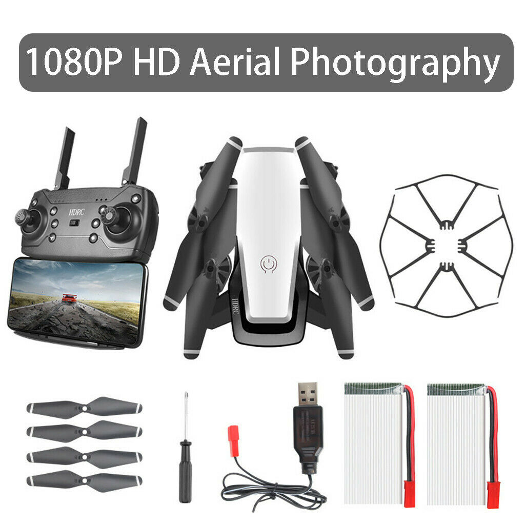 2PC Battery HDRC Foldable WIFI 1080P HD telecamera Drone lungo Lasting RC Quadcopter