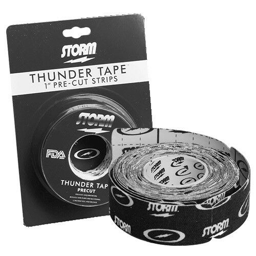 """Storm Bowling Thunder Tape Black Skin Protection Pre-Cut 1/"""" roll"""