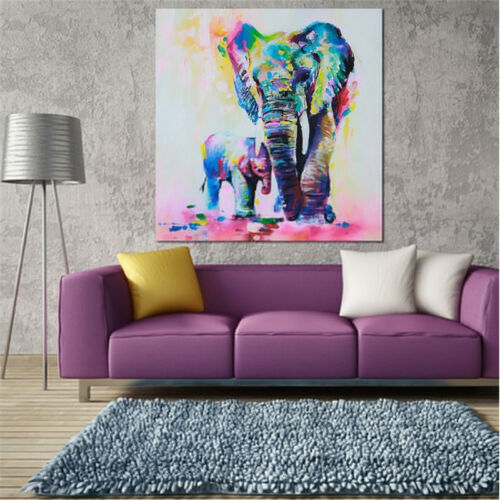 40x40cm Canvas Modern Home Decor Wall Art Painting Picture Elephants Print