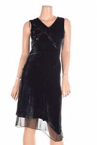 ELIE-TAHARI-039-Teresa-039-Navy-Velvet-Beaded-V-Neck-Party-Dress-0-NEW-648