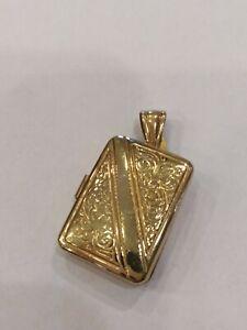 Anhänger / Medaille Fotorahmen Golden, aus Silber 925,Neu mit Garantie
