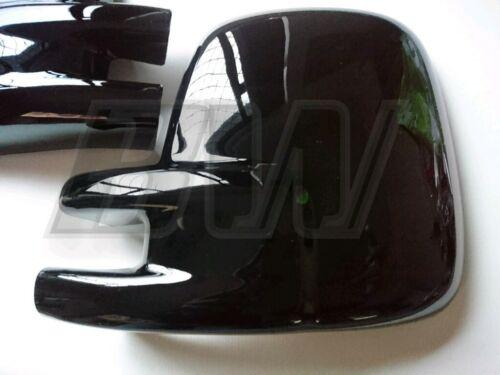 Paire VW T4 MIRROR COVERS noir brillant Transporter Camper Van RHD 1990-2003
