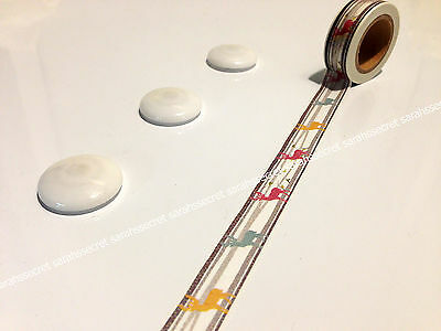 Japanese Washi Tape 15mmx10m Snow Deer Wind Coloured #W785