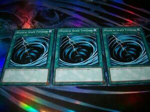 1st Edition 3 x Mystical Space Typhoon - Common LEHD-ENB23