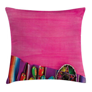 Vintage Throw Pillow Case Folkloric Boho African Square Cushion Cover 24 Inches