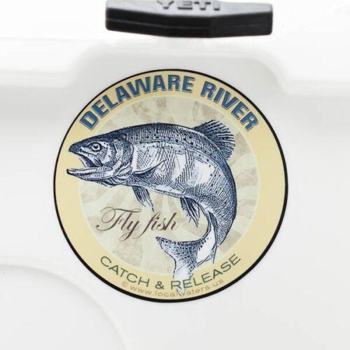 Delaware River Sticker Fly Fishing DecalGUARANTEE 3 years no fade