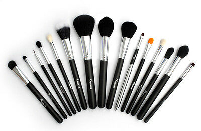 Sixplus Professional 15 Pcs Makeup Brushes Set Black Handle Cosmetic Brand Brush