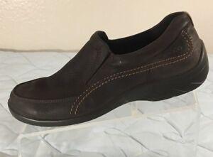 ecco Oiled Nubuck Leather Non-slip Oxford Brown Shoes Women EU 39 US ... 56f7181c2