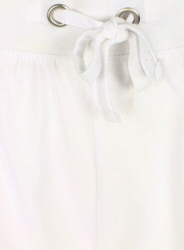 Ladies Casual Jersey Holiday Shorts 100/% Cotton New White Summer Hotpants Womens
