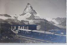 26707 Foto AK Zermatt Gornergrat Bahn mit Bahnstation auf Riffelberg 1929
