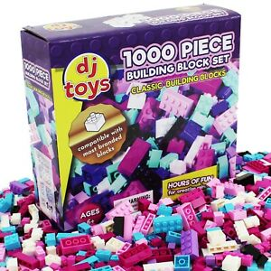 Kids Building Bricks Blocks 1000 Piece Construction Toy Compatible Play Game Set