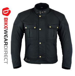 Waterproof-Motorbike-Motorcycle-Jacket-Waxed-Rain-Cotton-Biker-With-CE-Armour