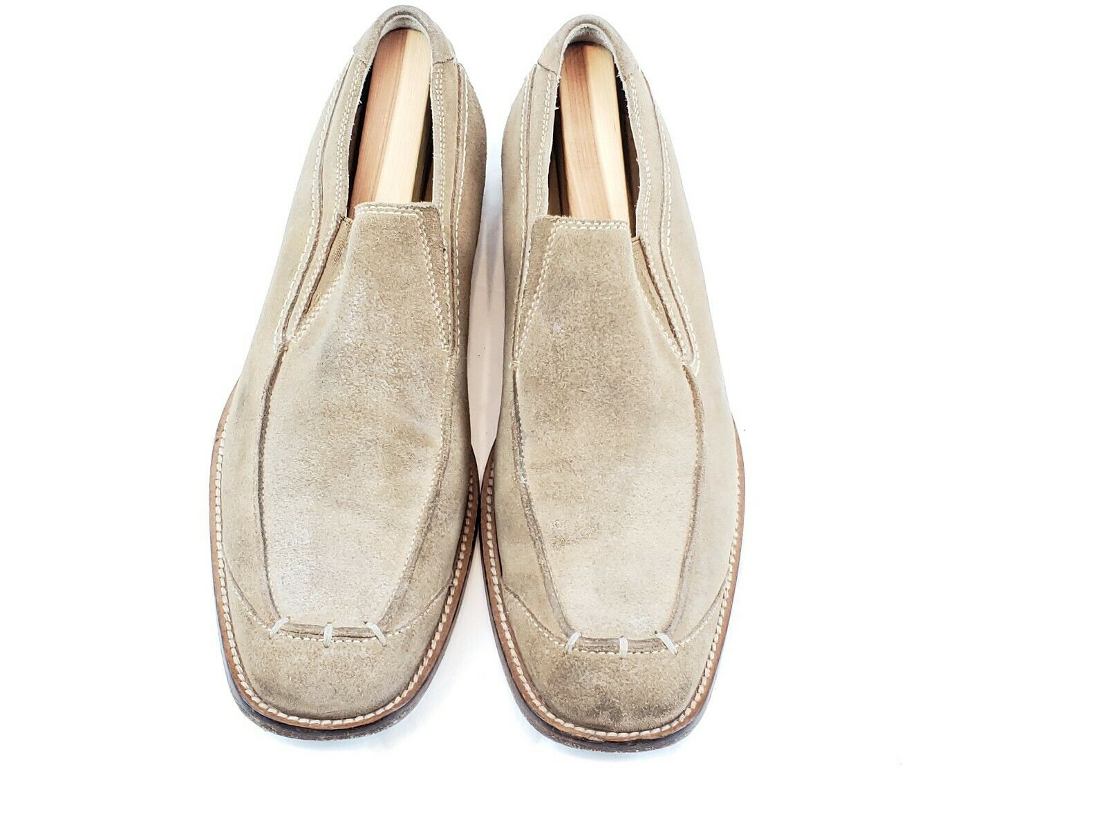 Gordon Rush Dress Loafer Size 10.5 Tan Suede Slip On Dress shoes