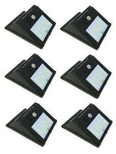 6-X-Faro-20-Led-Con-Pannello-Solare-E-Sensore-Di-Movimento-Faretto-Crepuscolare