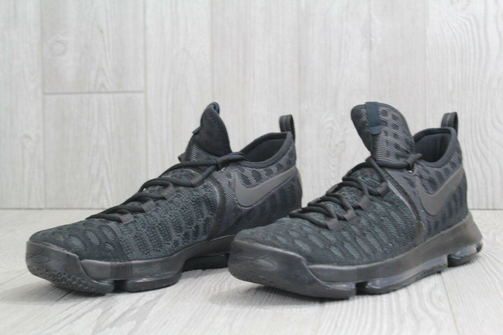 buy online e5f56 1caa6 ... 31 Nike Mens Zoom KD 9 9 9 IX Kevin Durant Black Anthracite Shoes  843392- ...